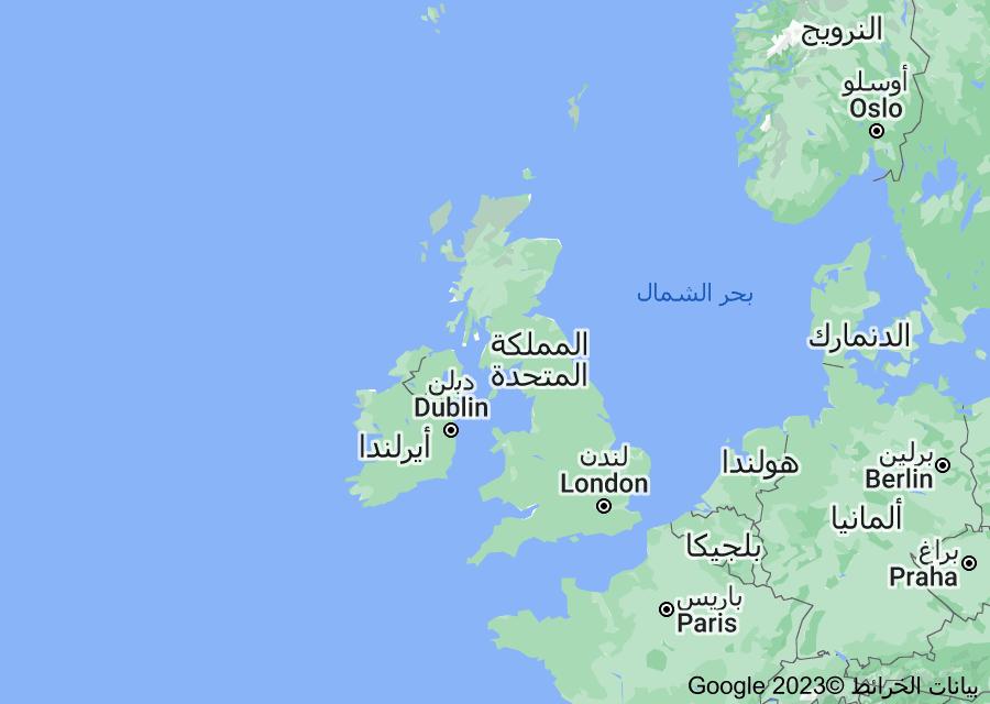 Location of المملكة المتحدة