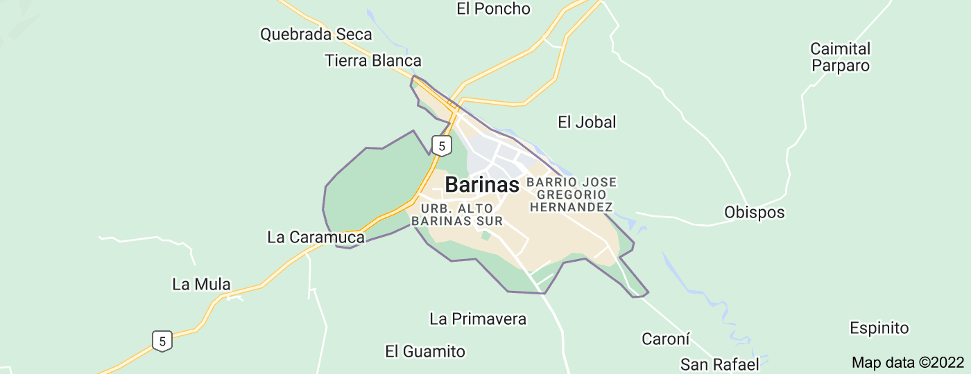 Location of Barinas