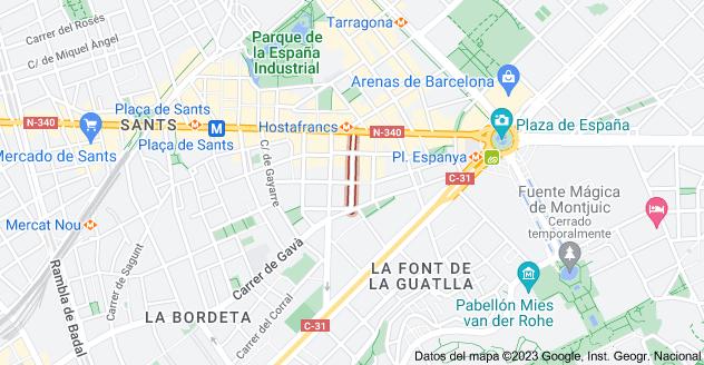 Mapa de Carrer de l'Àliga, 08014 Barcelona, España