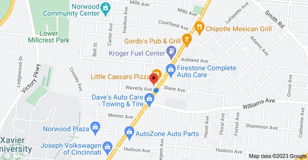 Map of 4101 Montgomery Rd, Cincinnati, OH 45212