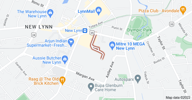 Location of Crown Lynn Place