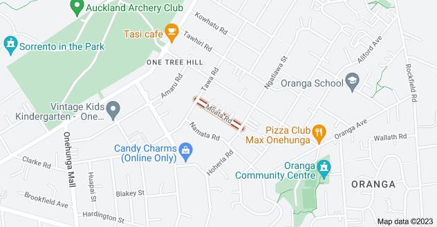 Location of Moata Road