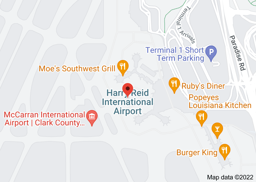 Location of McCarran International Airport