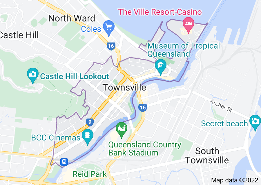 Location of Townsville