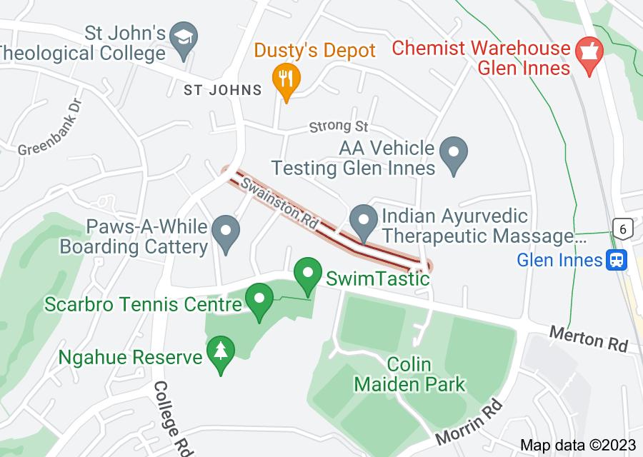 Location of Swainston Road