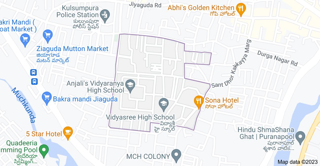 Map of Ziaguda, Hyderabad, Telangana 500264, India