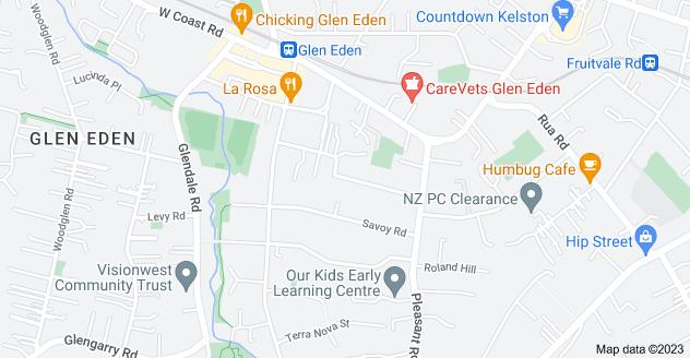 Location of Evans Road