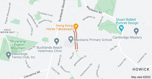 Location of Wycherley Drive