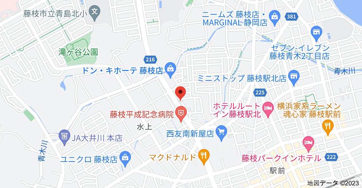 〒426-0074 静岡県藤枝市水上210−27の地図