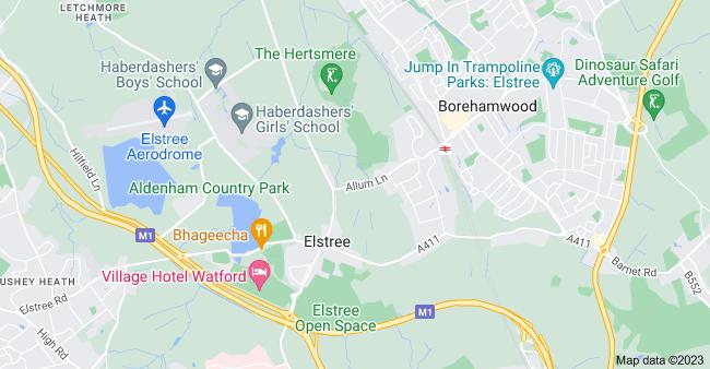 Map of Elstree