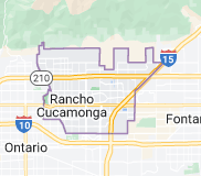 Map of Rancho Cucamonga