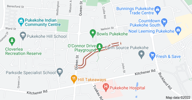 Location of O'Connor Drive