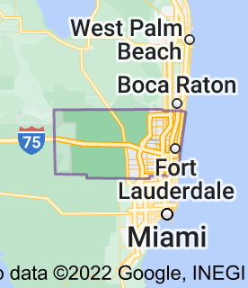 Map of Broward County