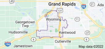 Map of Wyoming, Michigan