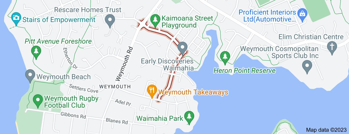 Location of Kaimoana Street