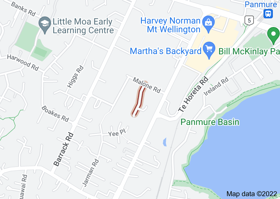 Location of Rielly Place