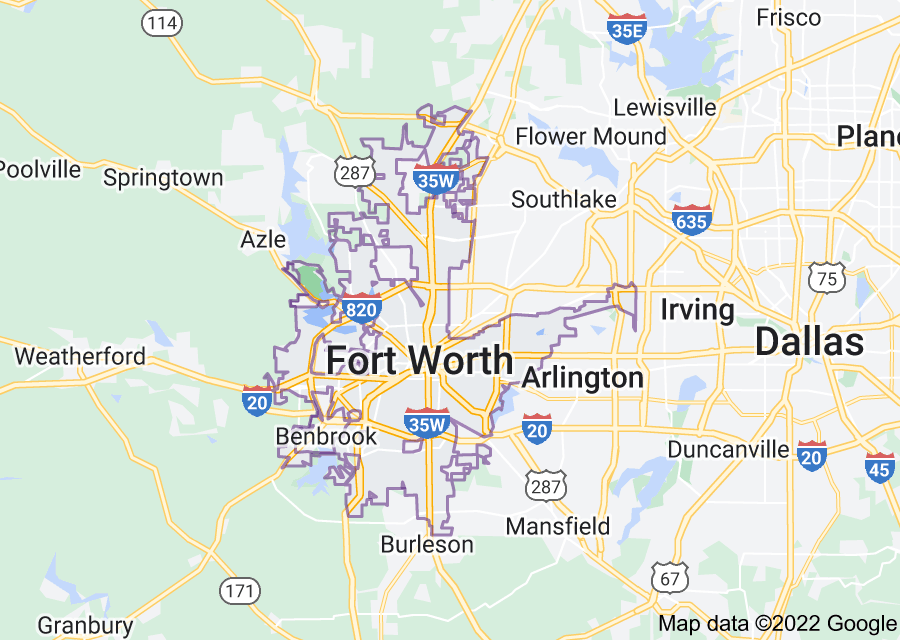 Location of Fort Worth