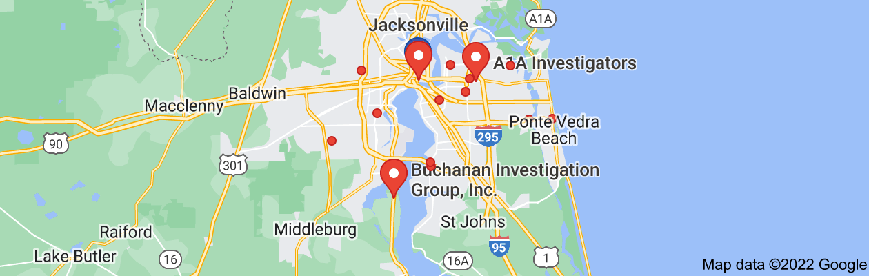 Map of private investigators jacksonville florida