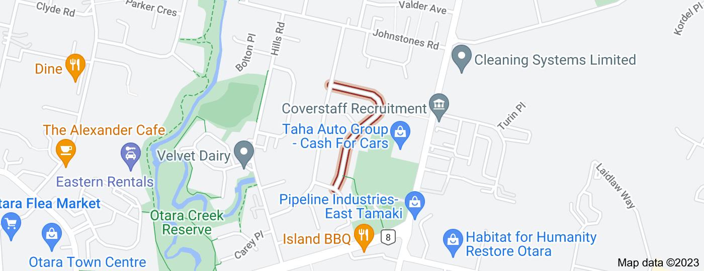 Location of Blampied Road