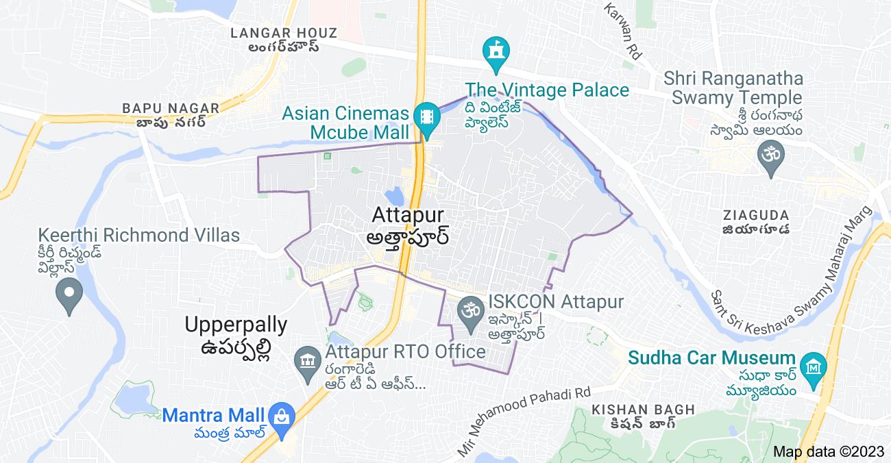 Map of Attapur, Telangana, India