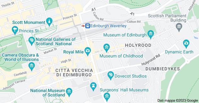 Mappa di: Royal Mile, Edinburgh, Regno Unito