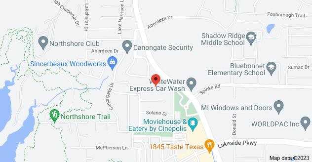 Map of 1011 Surrey Ln, Flower Mound, TX 75022