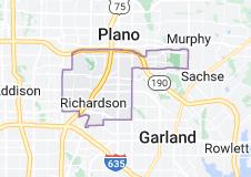 Map of Richardson, Texas