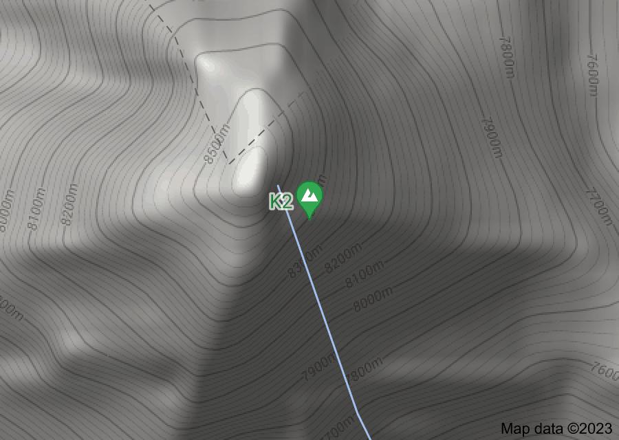 Location of K2