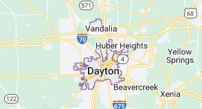 Map of Dayton, Ohio