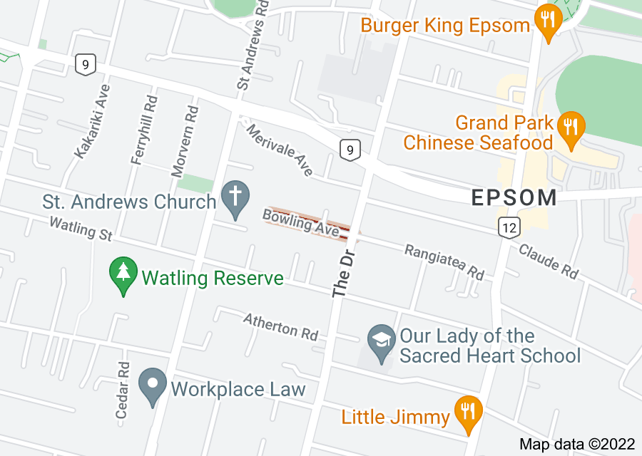 Location of Bowling Avenue
