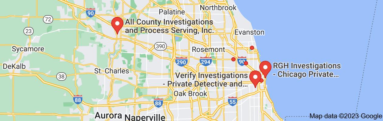 Map of illinois private investigators