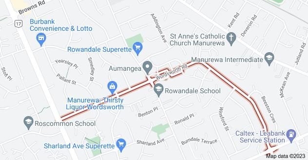 Location of Wordsworth Road