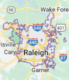 Map of Raleigh, North Carolina