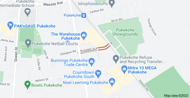 Location of Subway Road