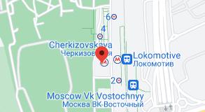 Location of Cherkizovskaya