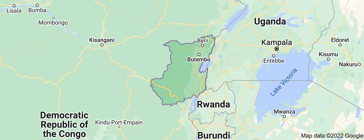 Location of North Kivu