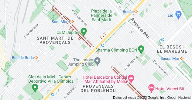 Mapa de Carrer de l'Agricultura, Barcelona, España