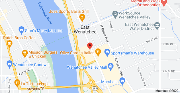 Map of 640 Valley Mall Pkwy, East Wenatchee, WA 98802