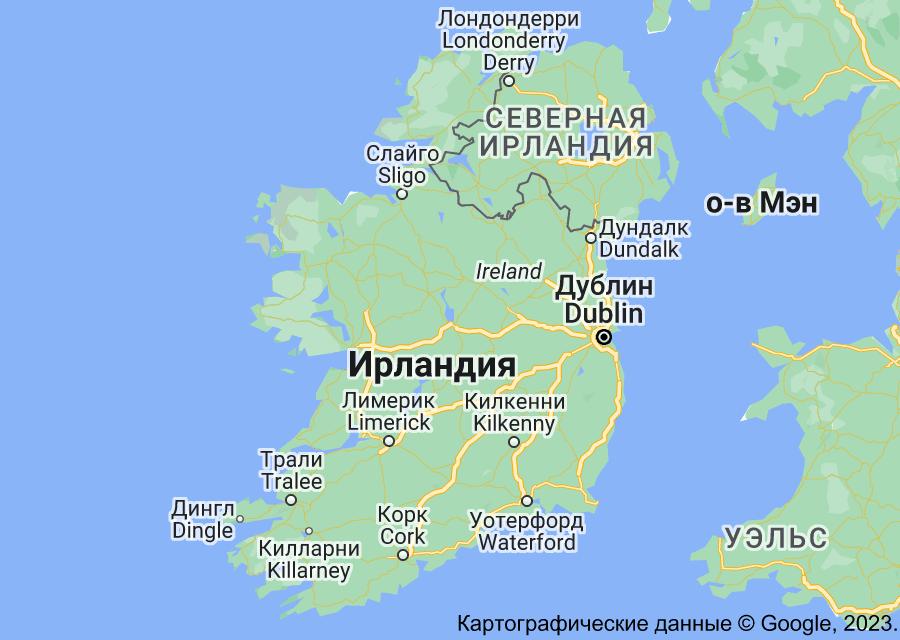 Location of Ирландия