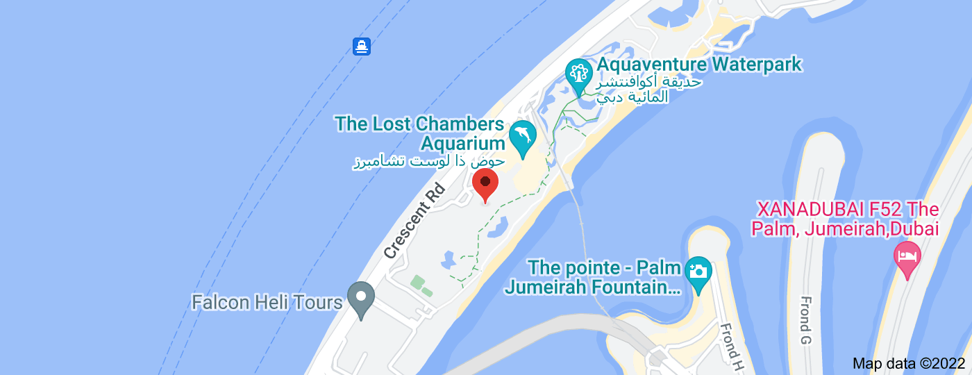 Location of Atlantis, The Palm