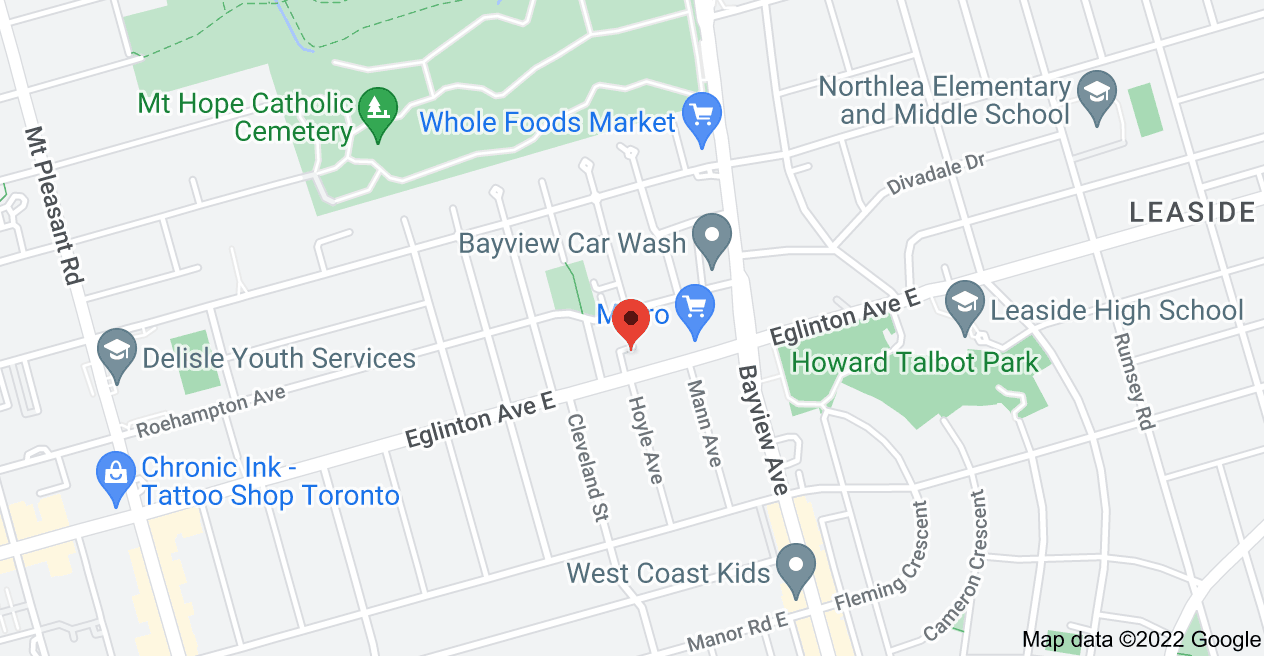 Map of 586 Eglinton Ave E, Toronto, ON M4P 1P2