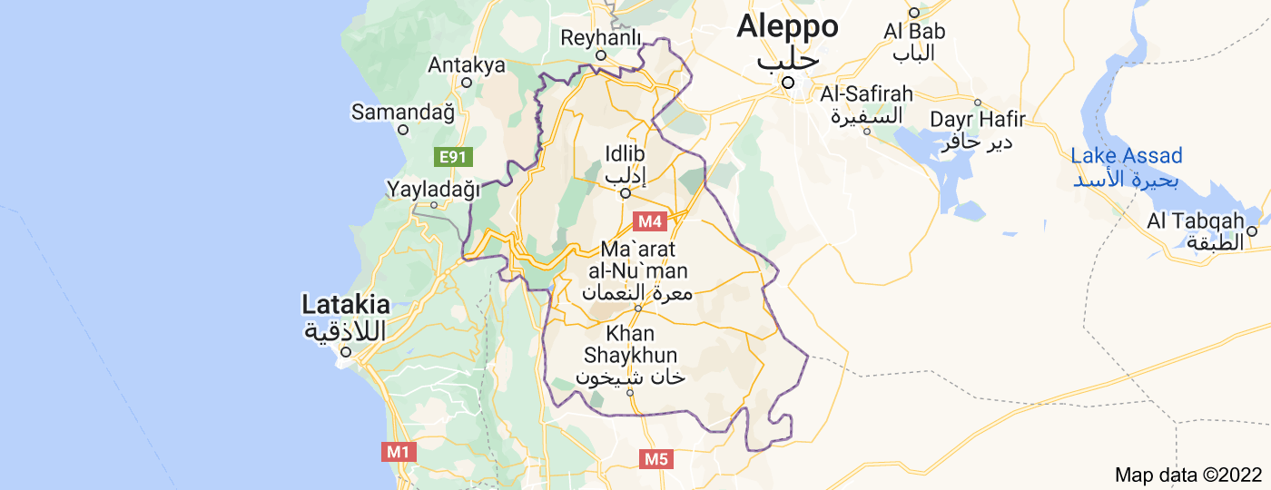 Location of Idlib Governorate