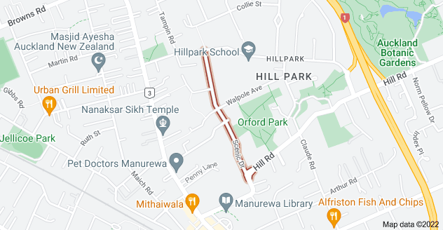 Location of Scenic Drive