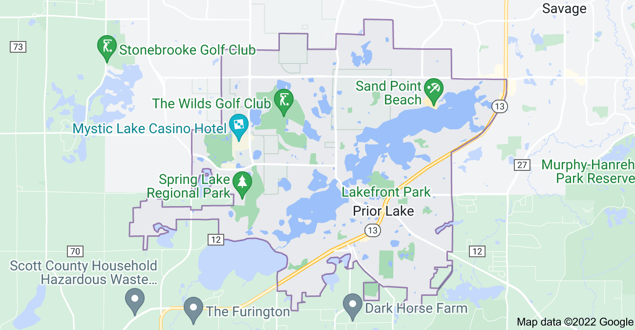 Map of Prior Lake, MN