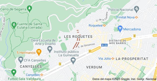 Mapa de Carrer d'Alcàntara, Barcelona, España