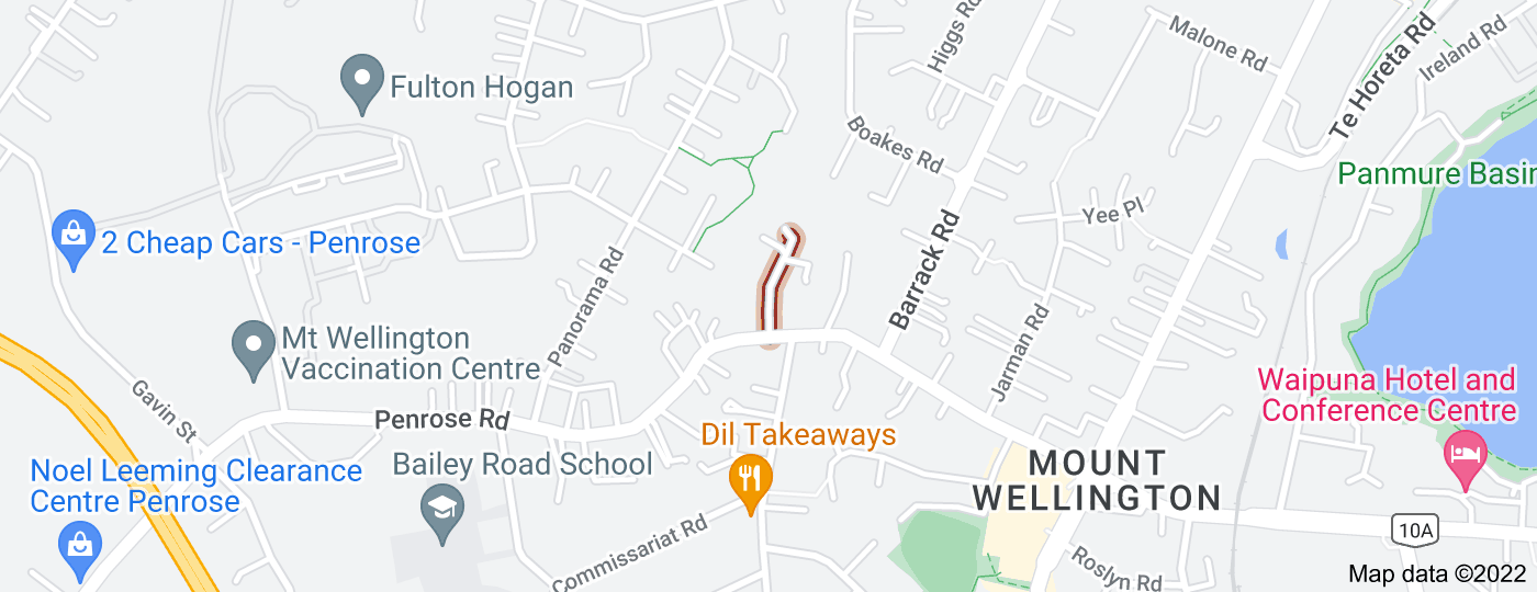 Location of Fitzgerald Road
