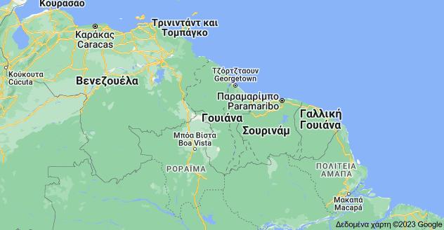 Χάρτης του/της Γουιάνα