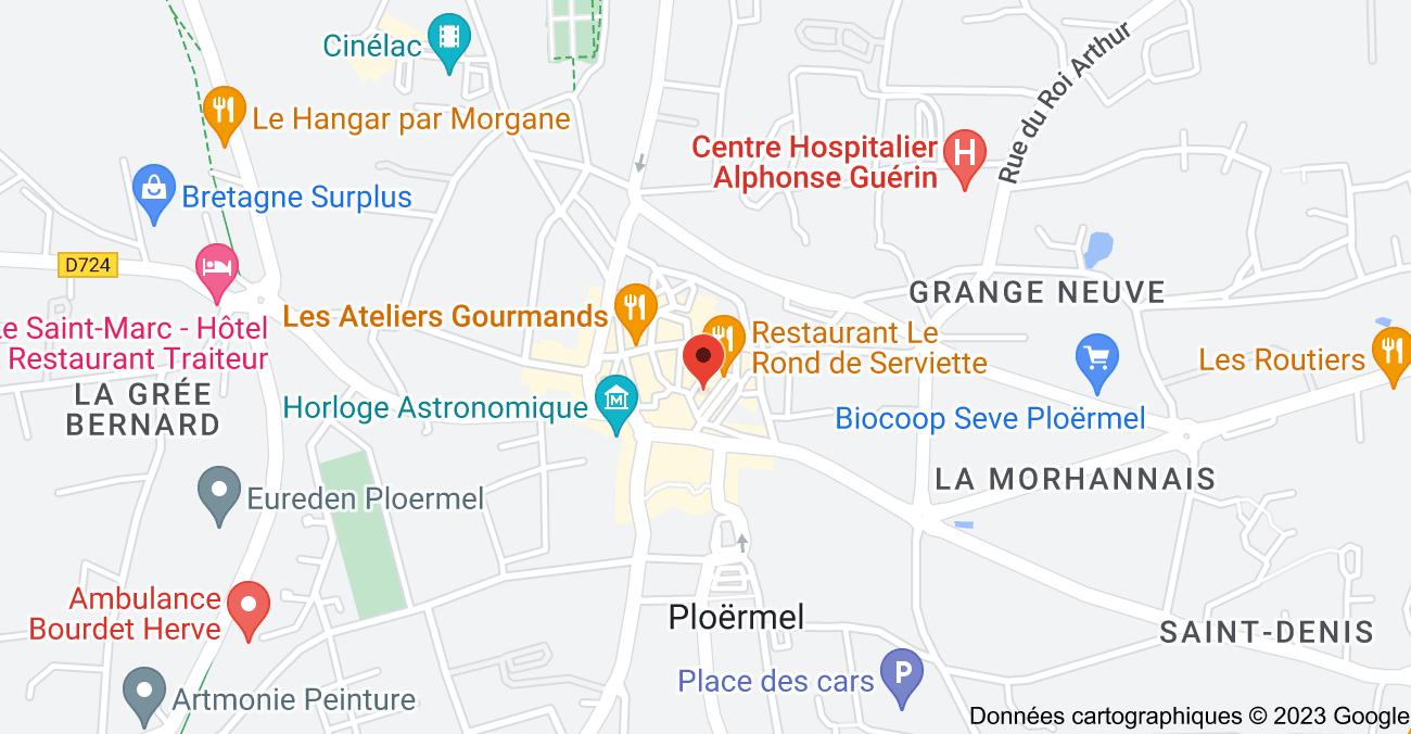 3 Place d'Armes, 56800 Ploërmel: carte