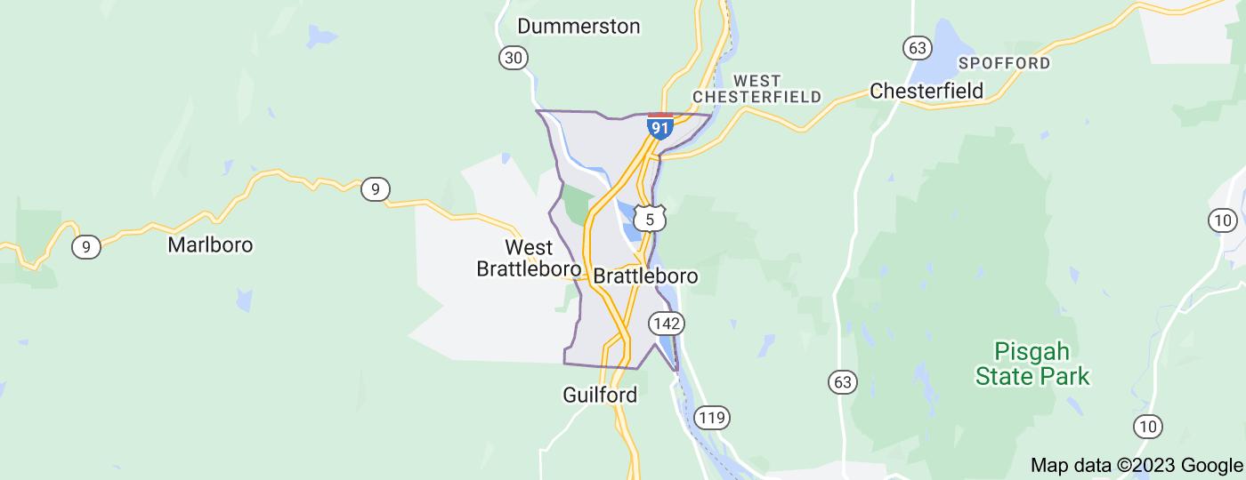 Location of Brattleboro
