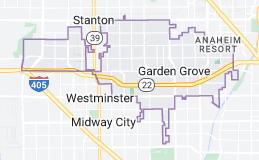 Map of Garden Grove, California